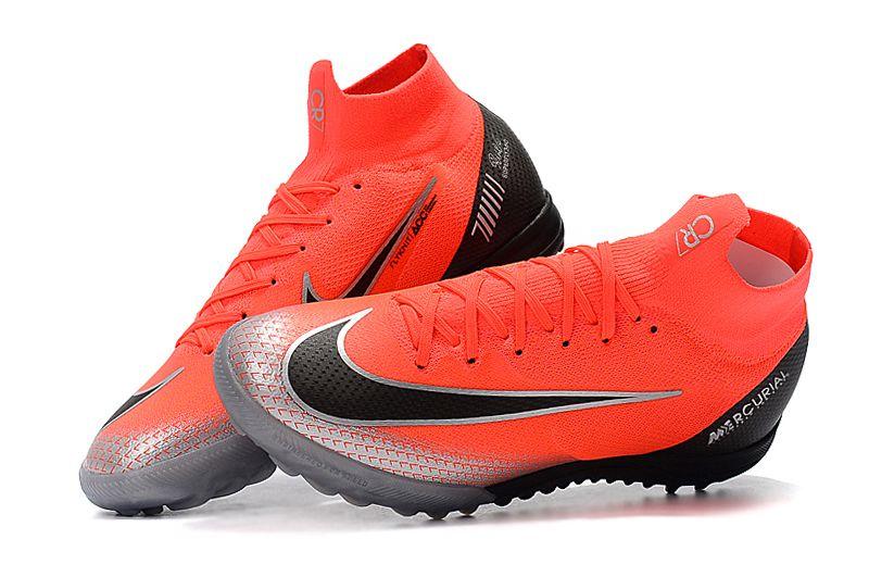 Frete Grátis. Código  JS3GXTR6B. Chuteira Nike Society Cano Longo Mercurial  Superfly VI Elite CR7 Laranja ec448326085d1