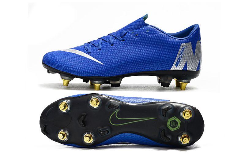 Chuteira Nike Campo Trava Mista Mercurial Vapor XII PRO Azul ... bb6bc7bb735e7