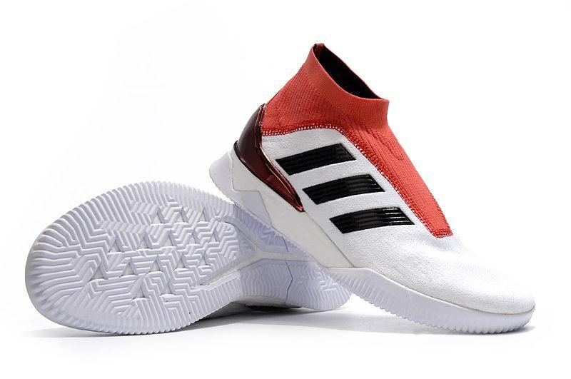 Tenis adidas Predator Tango 18+ TR boost Branco Vermelho e Preto ... 74e490a34c298