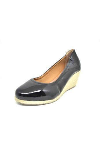 Sapato Feminino Anabela Preto Verniz  Dani K