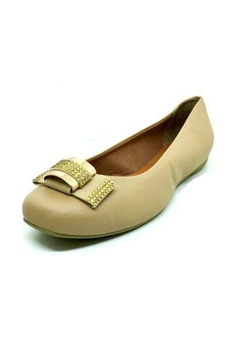 Sapatos Femininos Sapatilha Bico Quadrado Corino Dani K
