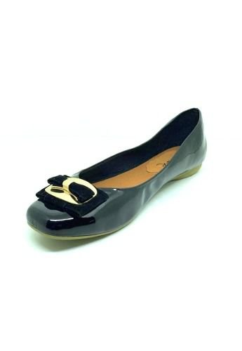 Sapatos Femininos Sapatilha Bico Quadrado Fivela Dani K