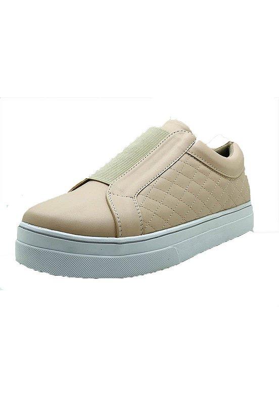 Sapatos Femininos Tenis Casual Rosê Elastico Dani K