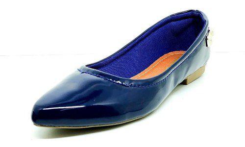 Sapatos Femininos Sapatilha Bico Fino Liso Lacinho Dani K