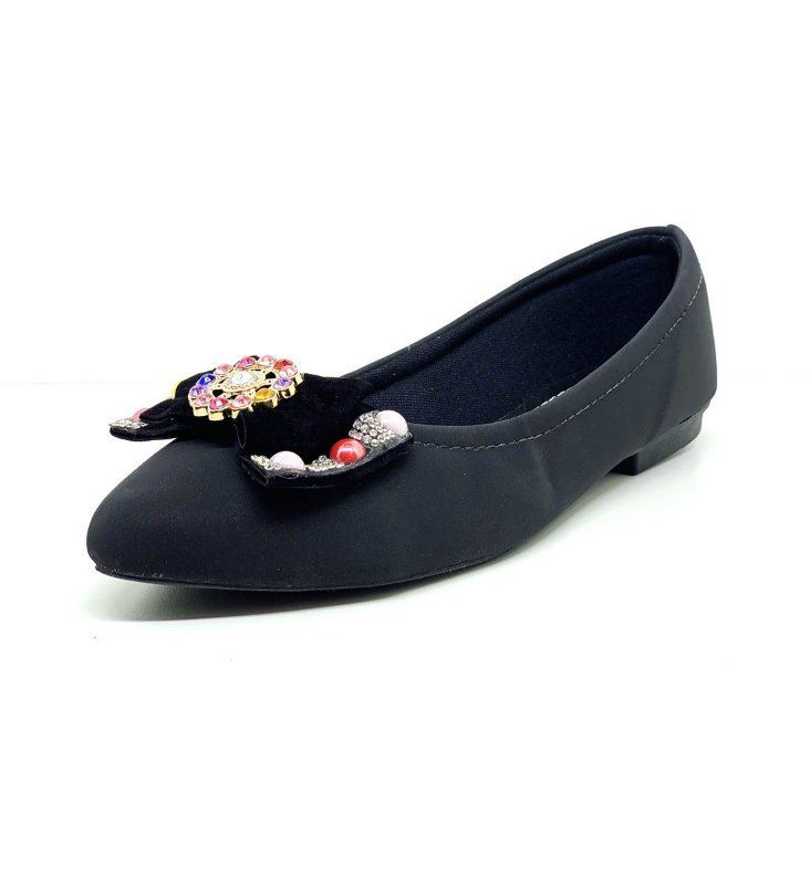 Sapatos Femininos Sapatilha Nobuck Laço Colorido Dani K