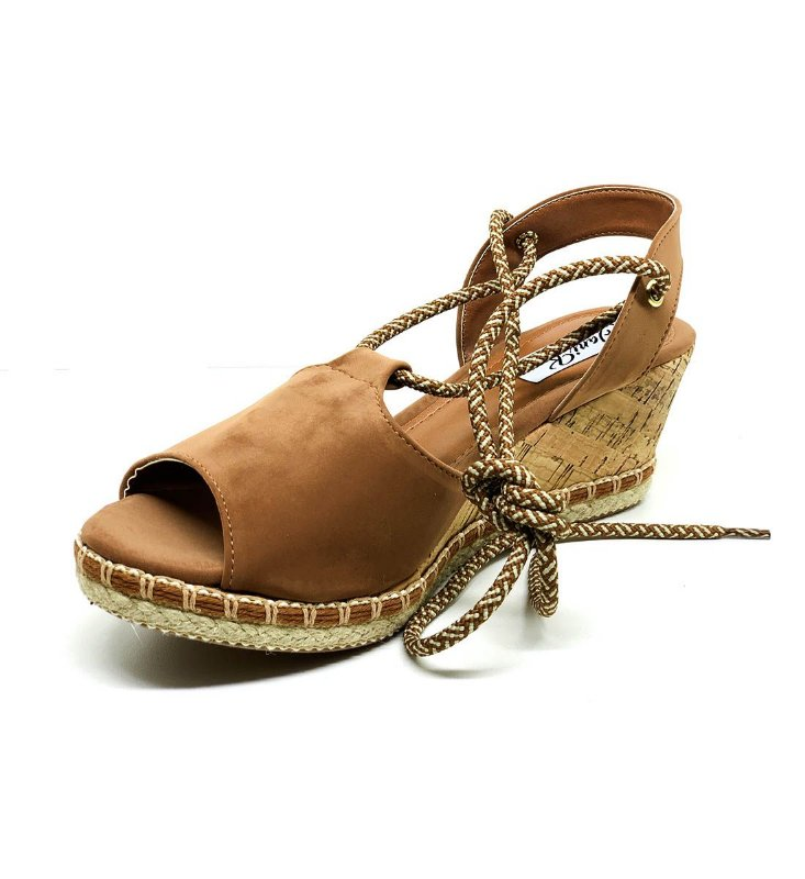 Sapatos Femininos Anabela Espadrilles Confort Dani K