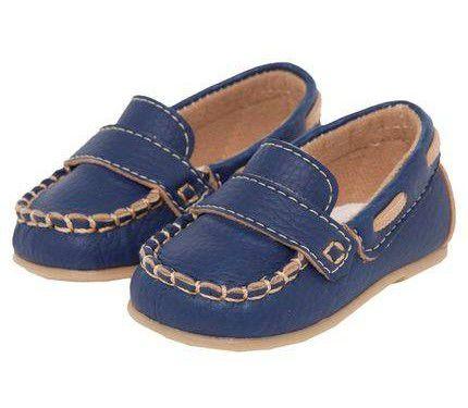 bda85d02b Sapato Mocassim Azul Marinho para Bebê Pimpolho - joopeebabykids