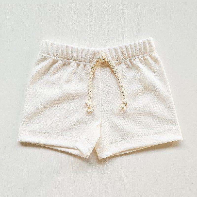 Shorts Básico Menina Off White