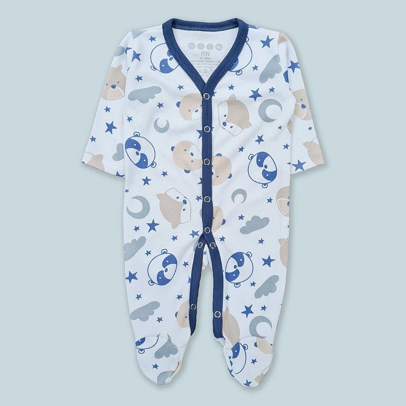 Macacão Pijama Panda Estrelas