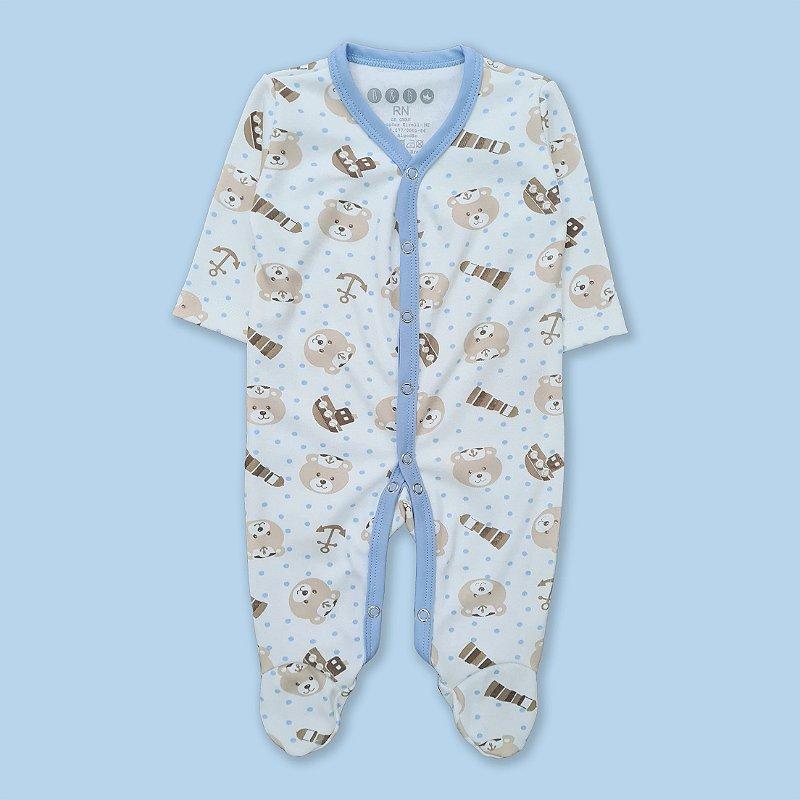 Macacão Pijama Urso Navio