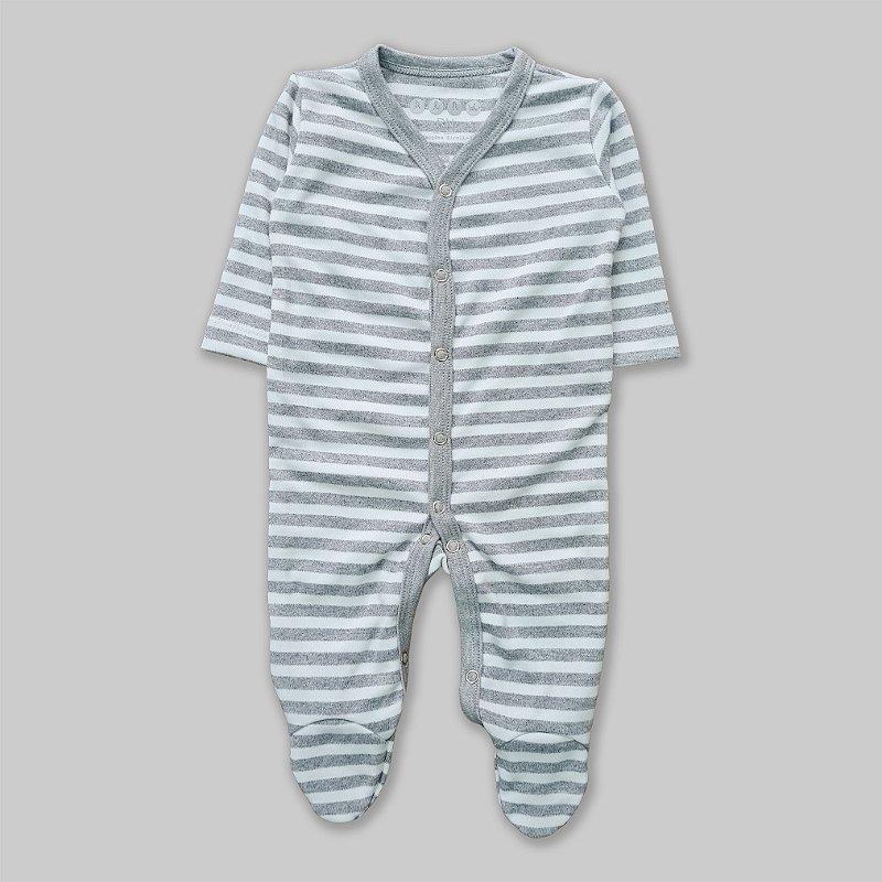 Macacão Pijama Listrado Largo Mescla
