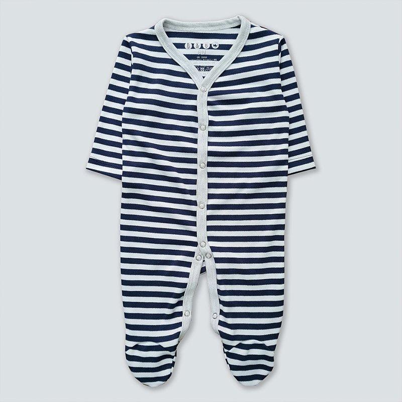 Macacão Pijama Listrado Azul Marinho