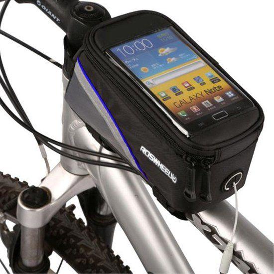 Bolsa Porta Celular Bike Mesa Bicicleta Roswheel com Cabo