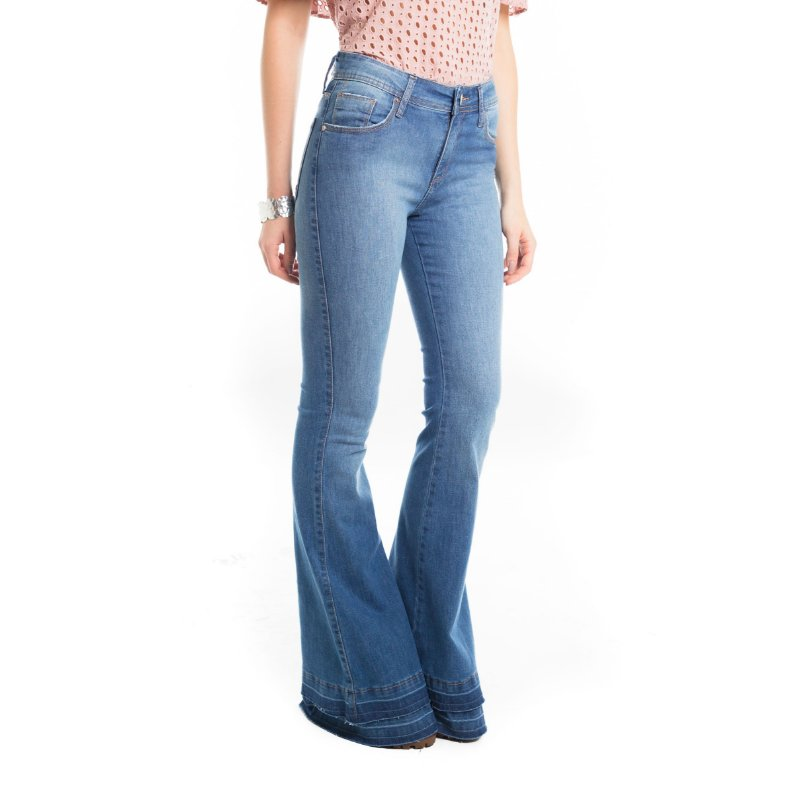 FLARE JEANS BARRA DUPLA