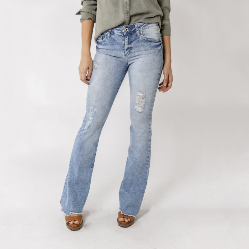 BOOTCUT JEANS RECORTES