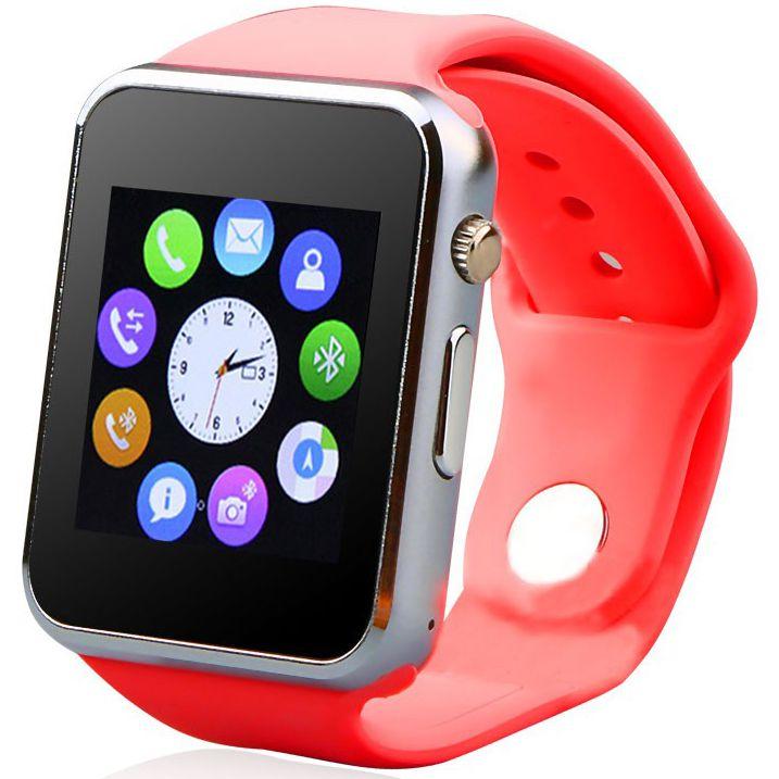 Relogio Smartwatch A1 Original Touch Bluetooth Gear Chip Vermelho
