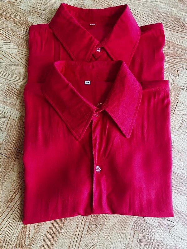 Camisa de botão pink (tamanho único)