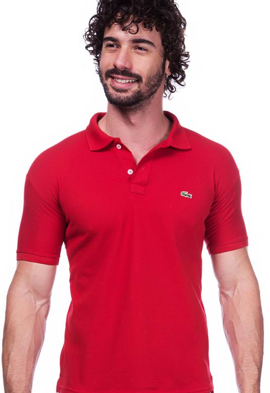 cfb3b7b272242 ... então recomendo pegar um tamanho maior que o tradicional de uso, assim  a camisa servirá perfeitamente. Camisa Polo Da Lacoste Vermelha