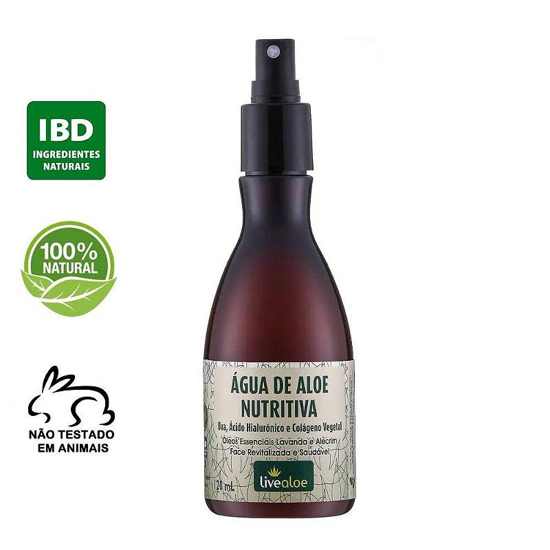 Água de Aloe Nutritiva Natural com Ácido Hialurônico 120ml – Livealoe