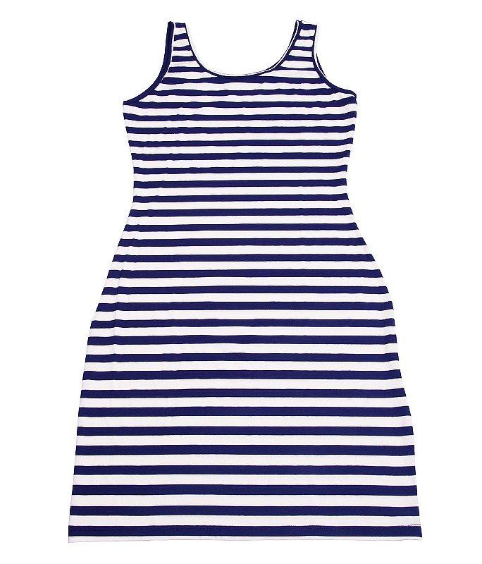 Vestido Via Costeira Listrado Justo Feminina