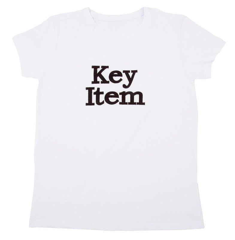 T-Shirt Via Costeira com Estampa Bordada