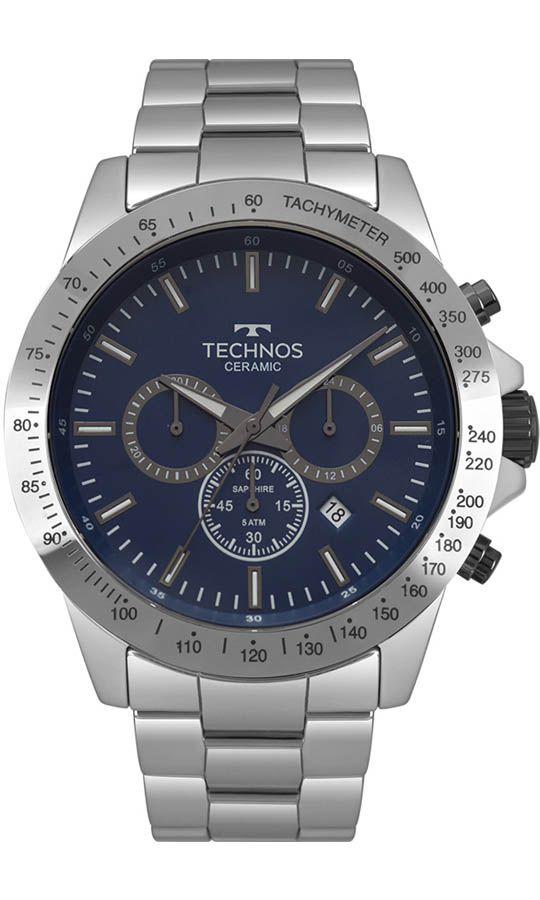 f35953502 Relógio Technos Classic Ceramic - Caixa e Pulseira em Cerâmica ...