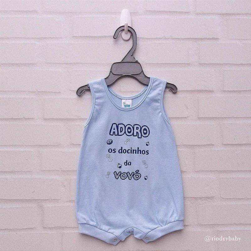Banho de Sol Frases Azul Bebê