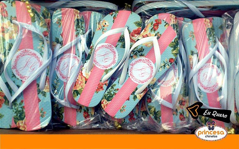 chinelos personalizados para casamento em bh - kit com 50 pares linha Premium