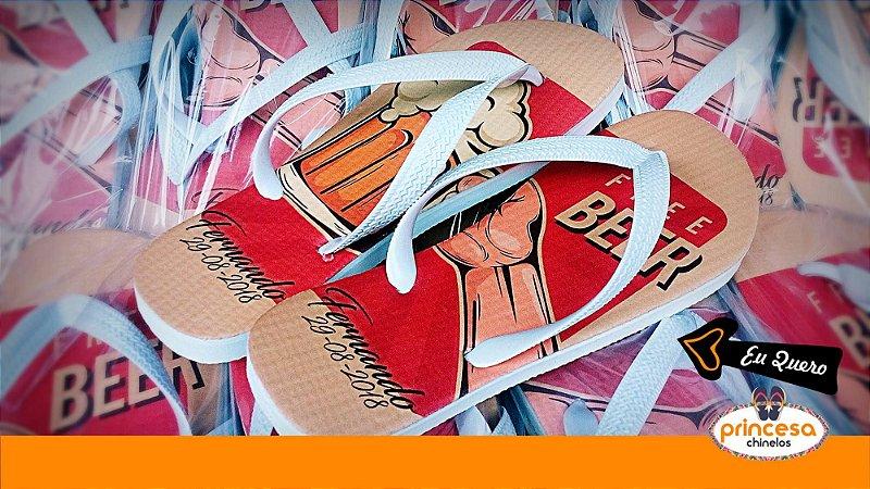 chinelos personalizados zona norte sp - kit com 40 pares linha Premium