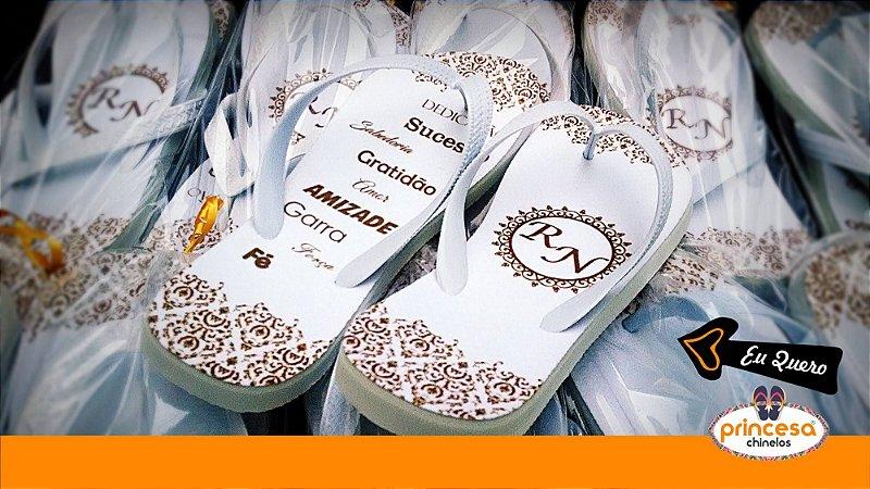 chinelos personalizados casamento porto alegre - kit com 130 pares Linha Econômica