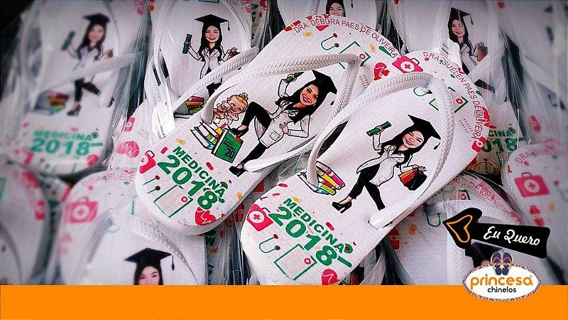 sandalias personalizadas formatura direito - kit com 160 pares Linha Econômica