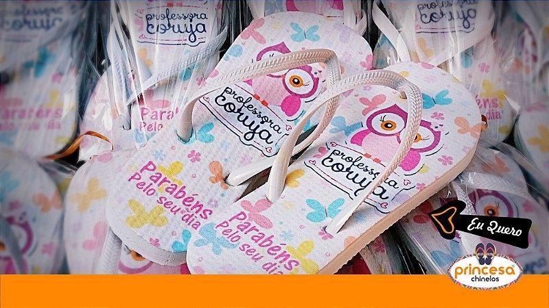 chinelos personalizados casamento baratos - kit com 550 pares Linha Econômica