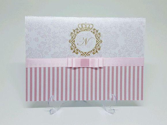 743aa9d1b Convite 15 anos rosa metalizado barato - Atelie da Lola Conviteria ...