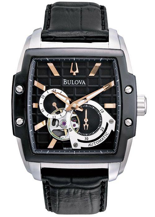 d361c361bcc Relógio Bulova Masculino Automático WB31185P Analógico - Perolashop