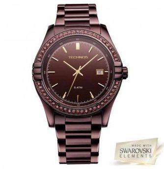 Relógio Technos Feminino 2315HP 1M Marrom Quartz - Perolashop efc854af3e
