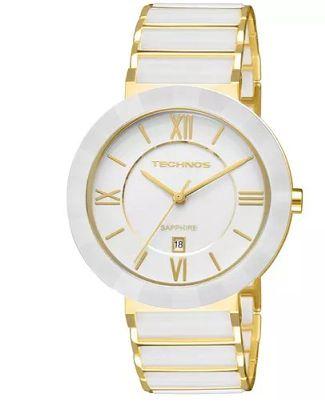 Relógio Technos Feminino Dourado Quartz 2015BV 4B - Perolashop 9558241ed0