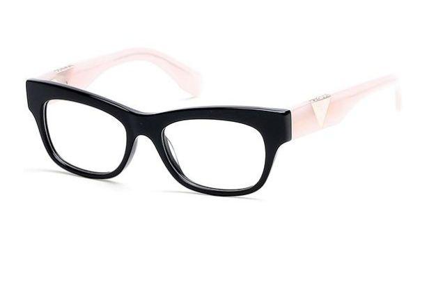 d6372d3ffd634 Armação Óculos Grau Guess Gu2575 Black Rosê - Perolashop