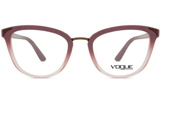 91f5c3570a87d Armação Óculos Grau Vogue 5231 2554 Nude Degradê - Perolashop