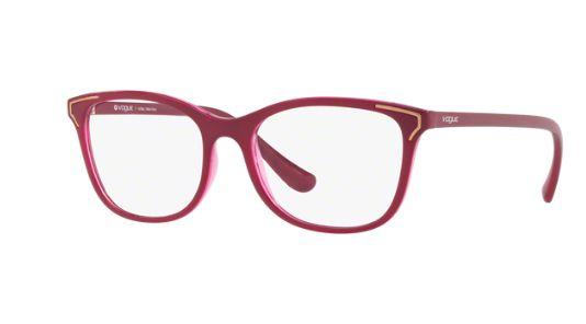 434e4b3b16fd6 Armação Óculos Grau Vogue 5214L 2618 Vinho - Perolashop