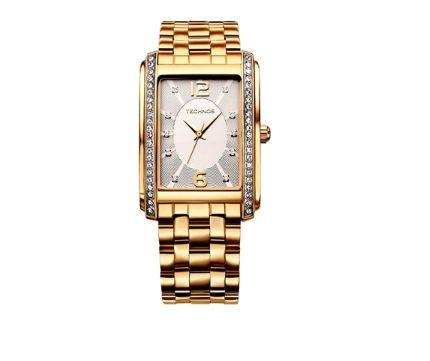 Relógio Technos Feminino 2035FFM 4K Dourado Quartz - Perolashop 62b1875165