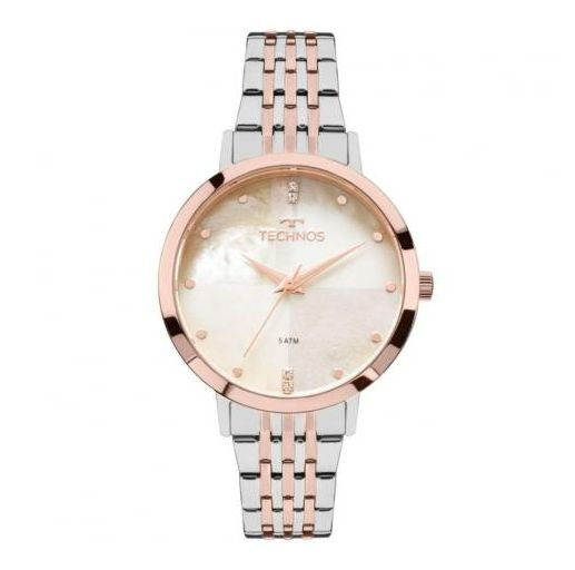 5e3cb5bb491bb Relógio Feminino Technos Fashion Trend 2036mji 5b Prata rosê ...