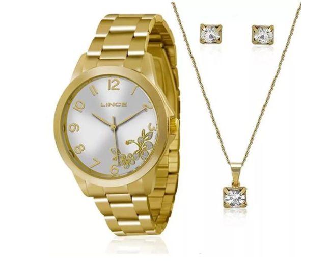 748cd07a2e9 Relógio Feminino Lince Lrgj041l K121 +Kit Semijóias - Perolashop