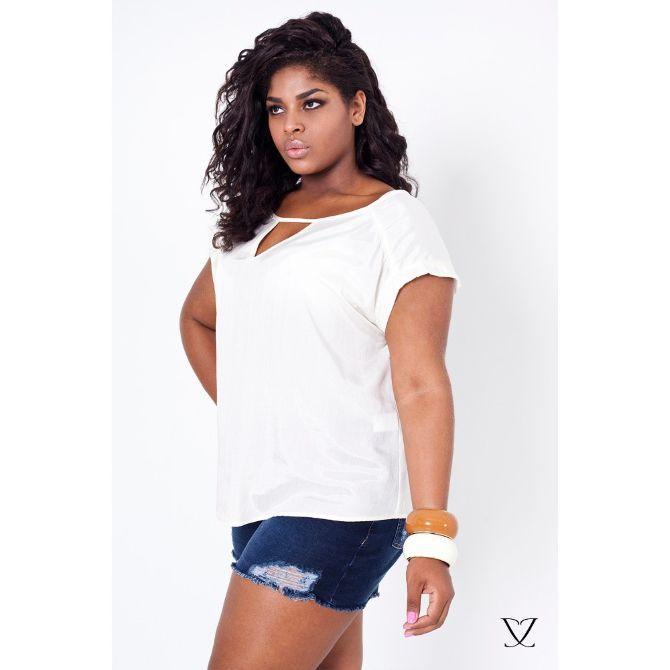 Blusa Feminina Plus Size OffWhite