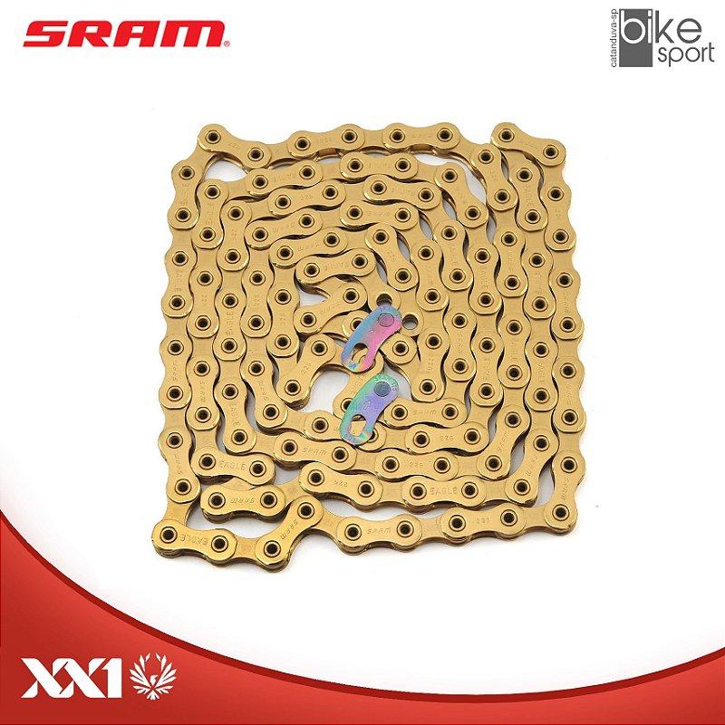 CORRENTE SRAM PC-XX1 EAGLE) 126 ELOS DOURADA