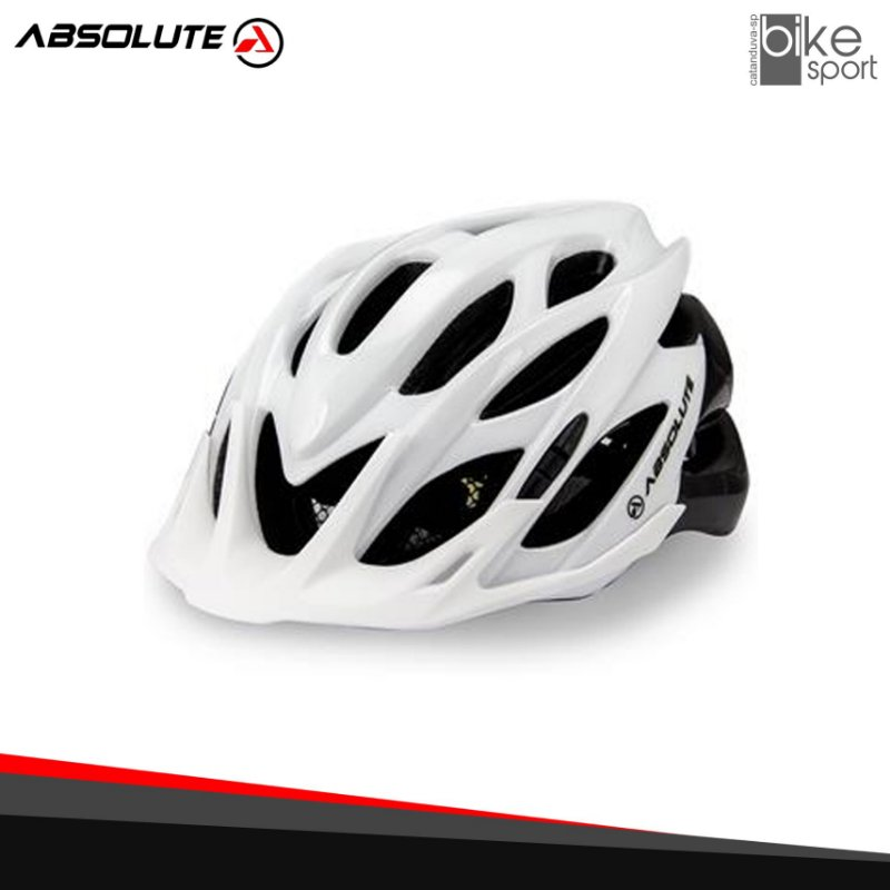 CAPACETE ABSOLUTE WILD BCO/PTO. M/G