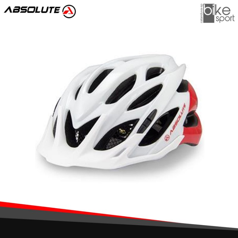 CAPACETE ABSOLUTE WILD BCO/VERM. M/G