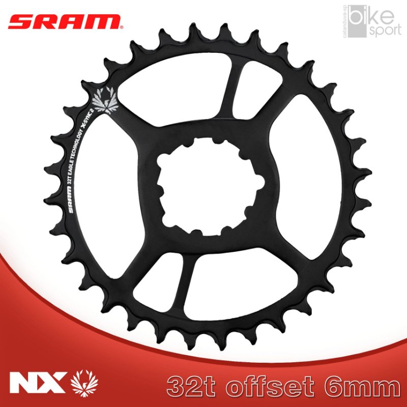 COROA SRAM NX EAGLE) DIRECT MOUNT 32T 6MM OFFSET PRETA