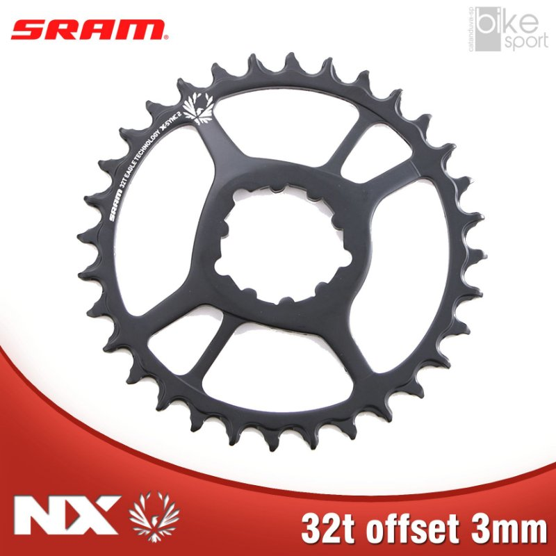 COROA SRAM NX EAGLE) DIRECT MOUNT 32T 3MM OFFSET PRETA