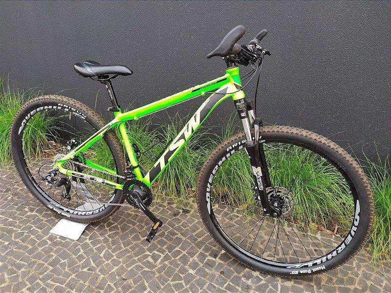 Bicicleta TSW Pressure Verde e Preta Tamanho 17