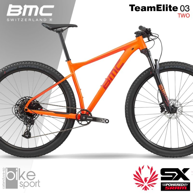 Bic TeamElite 03 Two S - Laranja, Verm,Pr - SRAM SX EAGLE